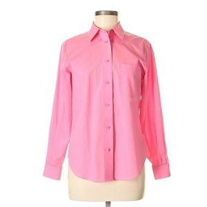 #805 Foxcroft NonIron Shirt Pink Button xl 16